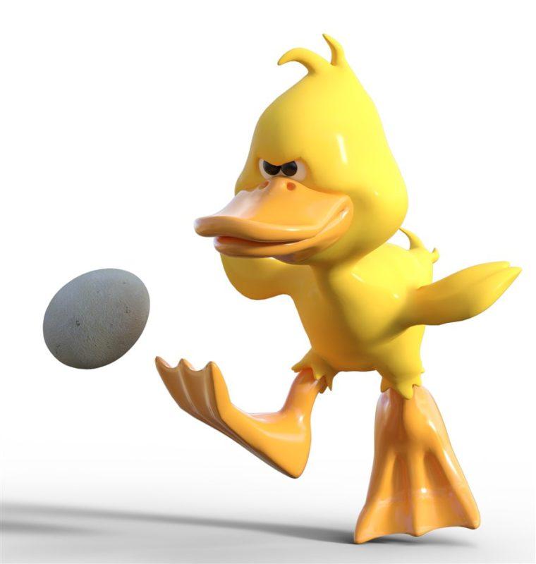 duck kicking egg - more pet peeves