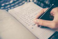 Setting goals in diary