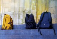 Deserted school bags - A Cry for Help - Tribute to Students, Teachers and Parents