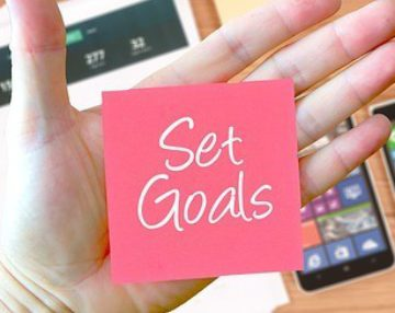 ste goals post-it - Setting goals effectively